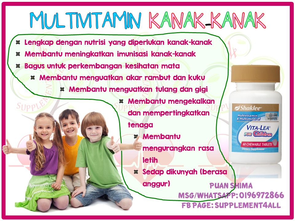 MULTIVITAMIN KANAK-KANAK SHAKLEE (VITALEA FOR CHILDREN)
